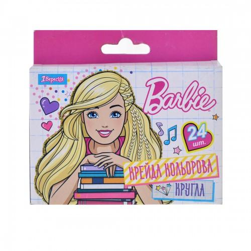 """Мел цветной круглый 24 шт. """"Barbie"""" 400191"""