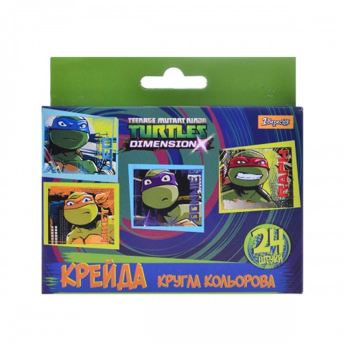 "Мел цветной круглый 24 шт""Ninja Turtles"" 400197"