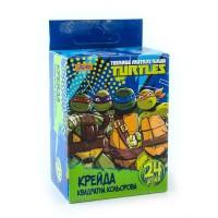 """Мел 1 Вересня цветной квадратный 24 шт. """"Ninja Turtles"""""""