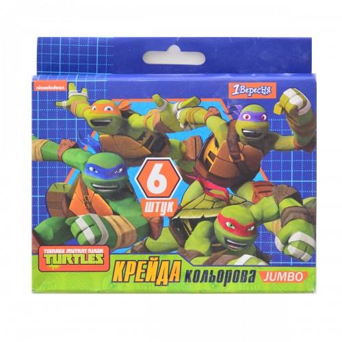 "Мел цветной JUMBO, 6 шт. ""Ninja Turtles"" 400286"