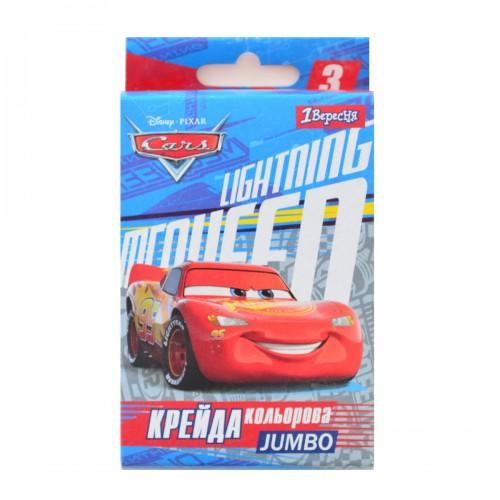 "Мел цветной JUMBO, 3 шт. ""Cars"" 400308"