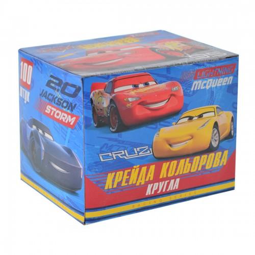 "Мел цветной, круглый, 100 шт ""Cars"" 400312"