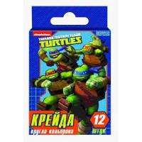 "Мел цветной, круглый, 12 шт ""Ninja Turtles"""