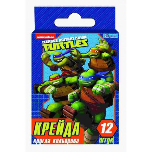"Мел цветной, круглый, 12 шт ""Ninja Turtles"" 400316"
