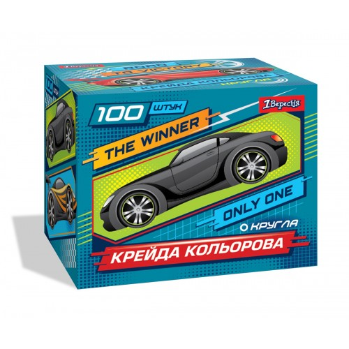 "Мел цветной, круглый, 100 шт ""Winner"" 400336"