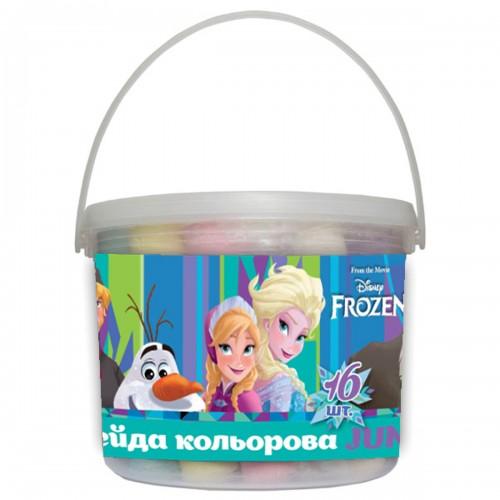 "Мел цветной 16 шт. JUMBO в ведре ""Frozen"" 400345"