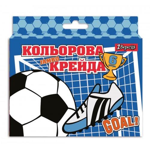 "Мел цветной 1Вересня 6 шт. JUMBO ""Football"" 400428"