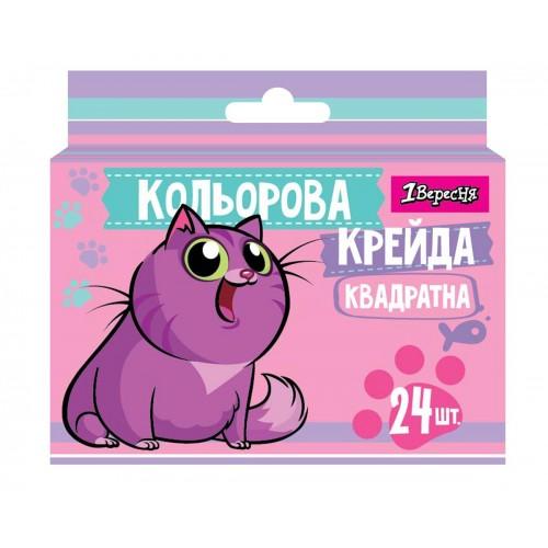 """Мел цветной 1Вересня квадратный 24 шт. """"Best Friend"""" 400435"""