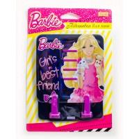 """Подставка для книг 1 Вересня цветная металлическая """"Barbie"""""""