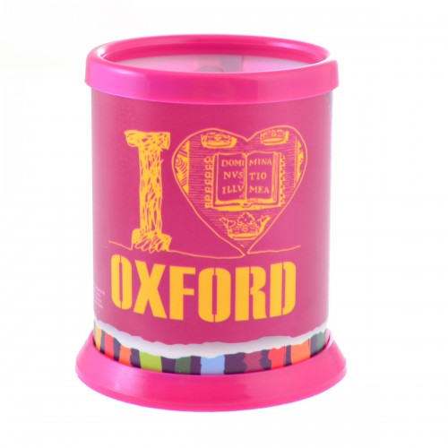 """Стакан для письменных принадлежностей разборной """"Oxford"""" розовый 470388"""