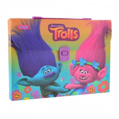 """Портфель пластиковый """"Trolls"""" 491308"""
