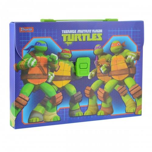"""Портфель пластиковый """"Ninja Turtles"""" 491447"""