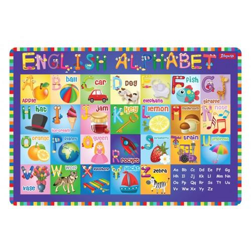 """Подложка для стола 1Вересня детская """"Алфавит (англ)"""" 491467"""