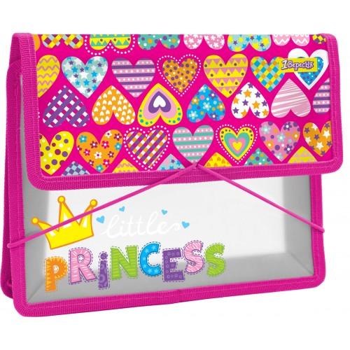 """Папка для тетрадей пласт. на резинке В5 """"Little Princess"""" 491568"""