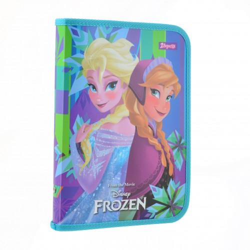 """Папка для тетрадей пласт. на молнии В5 """"Frozen"""" 491580"""
