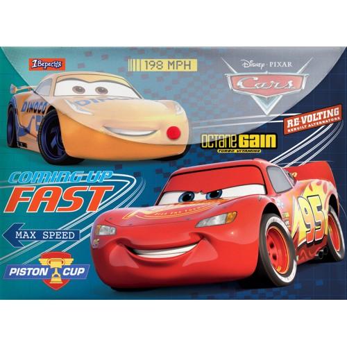 """Папка-конверт 1Вересня на кнопке А4 """"Cars"""" 491625"""