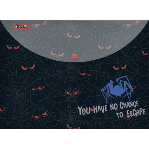 """Папка-конверт 1Вересня на кнопке А4  """"Spider"""" 491841"""