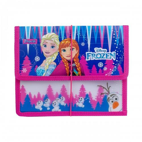 """Папка для тетрадей 1Вересня пласт. на резинке В5 """"Frozen"""" 491848"""