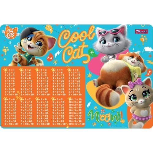 """Подложка для стола 1Вересня детская """"44 Cats"""" (табл.умножения) 491862"""