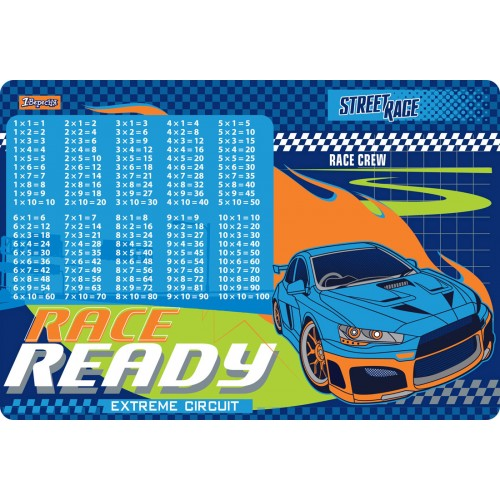 """Подложка для стола 1Вересня детская """"Street race"""" (табл.умножения) 491863"""