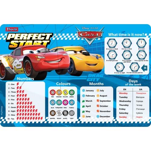 """Подложка для стола 1Вересня детская """"Cars"""" (англ) 491864"""