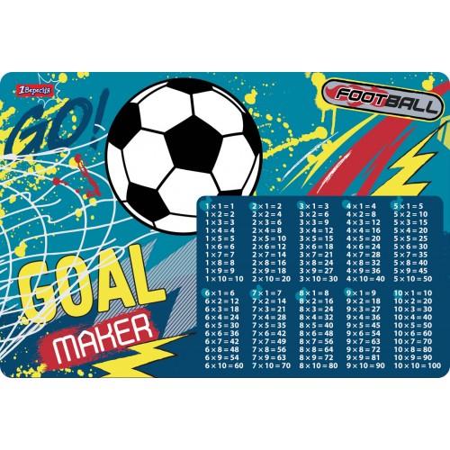 """Подложка для стола 1Вересня детская """"Team football"""" (табл.умножения) 491866"""