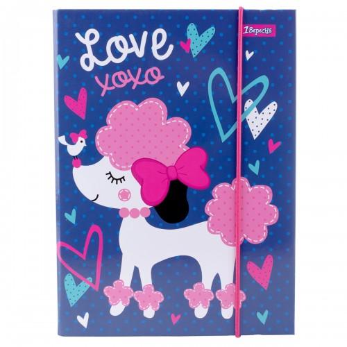 """Папка для тетрадей 1Вересня картонная В5 """"Love XOXO"""" 491887"""