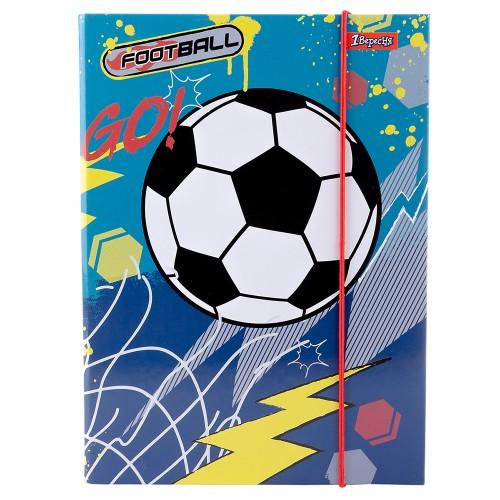 """Папка для тетрадей 1Вересня картонная В5 """"Team football"""" 491890"""