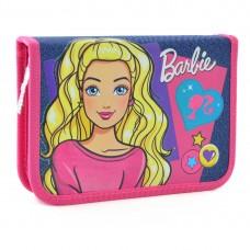 Пенал твердый одинарный с клапаном  Barbie jeans