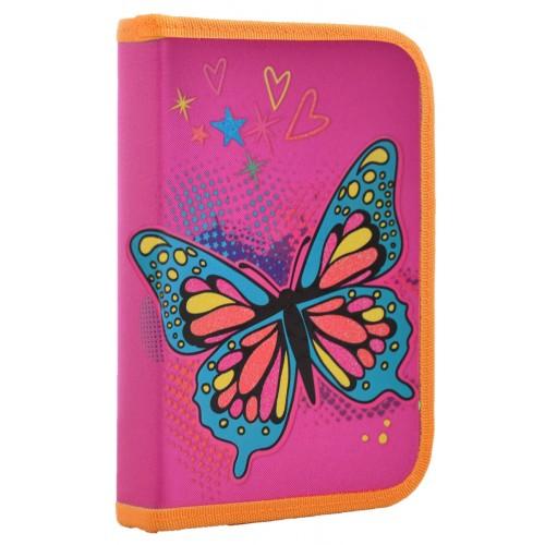 Пенал твердый 1 Вересня одинарный с клапаном Butterfly, 20.5*14*3.5 531793
