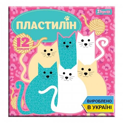 """Пластилин 1Вересня 12 цв. """"I am a cat"""", Украина 540545"""