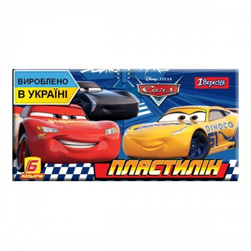 """Пластилин 1Вересня 6 цв. """"Cars"""", Украина 540549"""