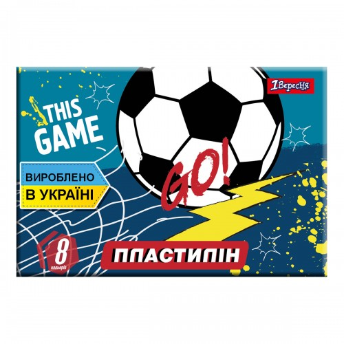 "Пластилин 1Вересня 8 цв. ""Team football"", Украина 540556"