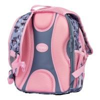 """Рюкзак школьный 1Вересня S-107 """"Purrrfect"""", розовый/серый"""