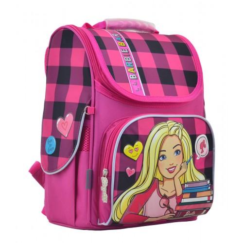 Рюкзак школьный каркасный 1 Вересня H-11 Barbie red, 33.5*26*13.5 555156