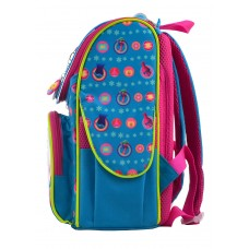 Рюкзак каркасный  H-11 Trolls turquoise, 33.5*26*13.5
