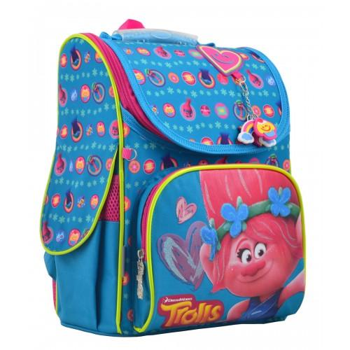 Рюкзак школьный каркасный 1 Вересня H-11 Trolls turquoise, 33.5*26*13.5 555162