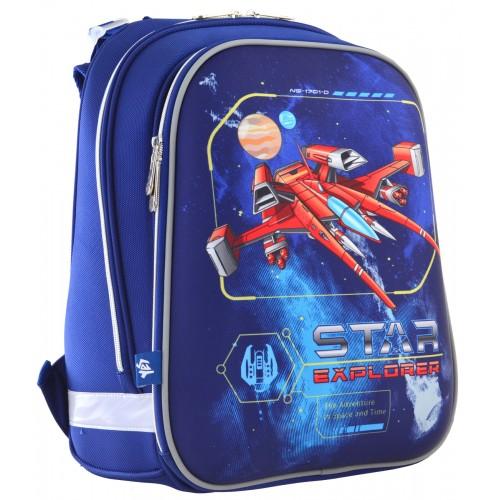 """Рюкзак школьный каркасный 1 Вересня H-12 """"Star Explorer"""" 555960"""