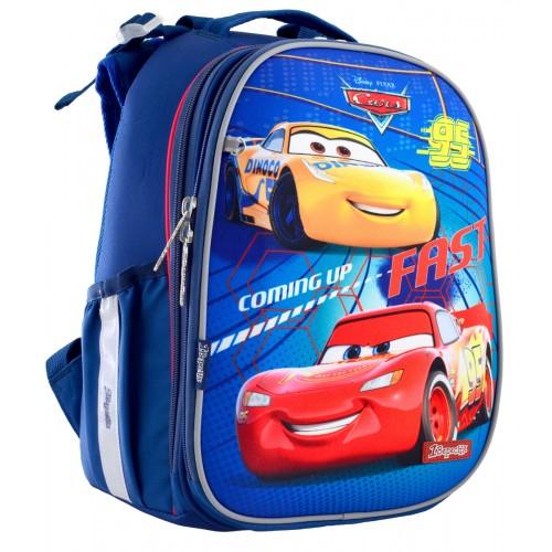 """Рюкзак школьный каркасный 1 Вересня H-25 """"Cars"""" 556201"""