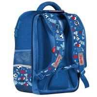"""Рюкзак школьный 1Вересня S-105 """"Football"""", синий"""