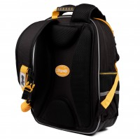 """Рюкзак школьный 1Вересня S-105 """"Maxdrift"""", черный/желтый"""
