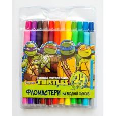 """Фломастеры 1 Вересня 24 цв. """"Ninja Turtles"""""""