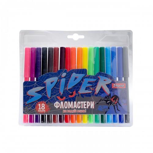 """Фломастеры 1 Вересня 18 цв. """"Spider"""" 650410"""