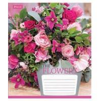 Тетрадь 1 Вересня, А-5, 24л, клетка,  Flowers bouquet