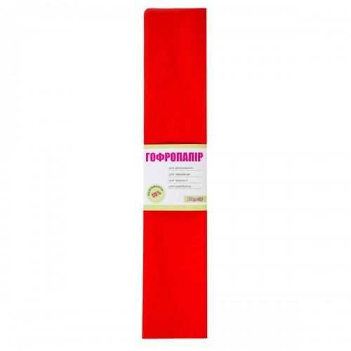 Бумага гофр. 1Вересня т.-красная 55% (50см*200см) 701520