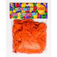 Шар воздушный 25 см перламутровый  оранж. 100шт/уп