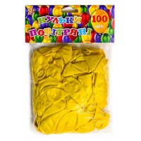 Шар воздушный 28 см перламутровый желт.100шт/уп