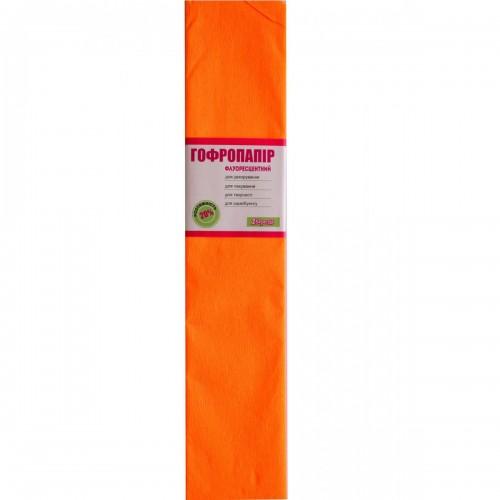 Бумага гофр. 1Вересня флуоресц. оранжевая 20% (50см*200см) 705398