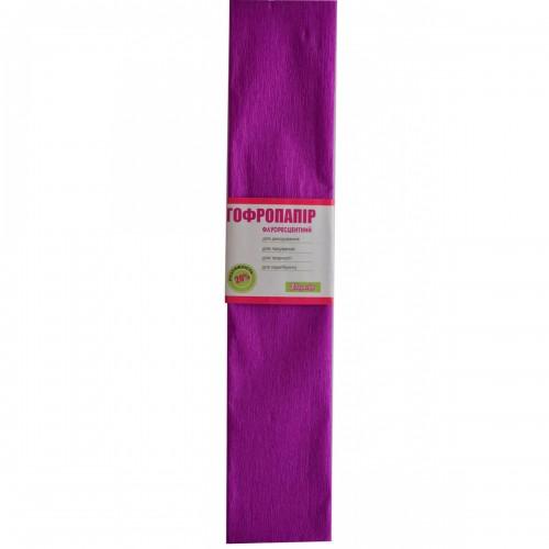 Бумага гофр. 1Вересня флуоресц. фиолетовая 20% (50см*200см) 705406