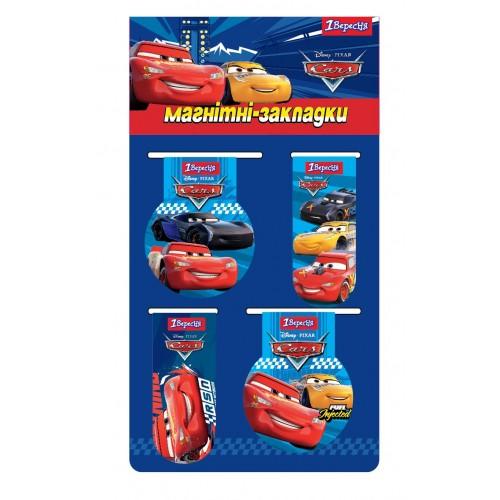"""Закладки магнитные 1Вересня """"Cars"""" 707391"""